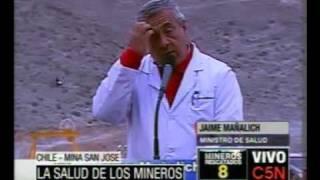Thumb Conferencia de JAIME MAÑALICH, MINISTRO DE SALUD con respecto al rescate de los 33 mineros