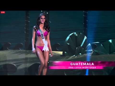 Ana Luisa Montúfar en la preliminar de Miss Universo