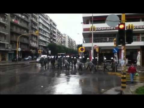 Antifa Protest Greece Thessaloniki Oxi Day 28/10/12