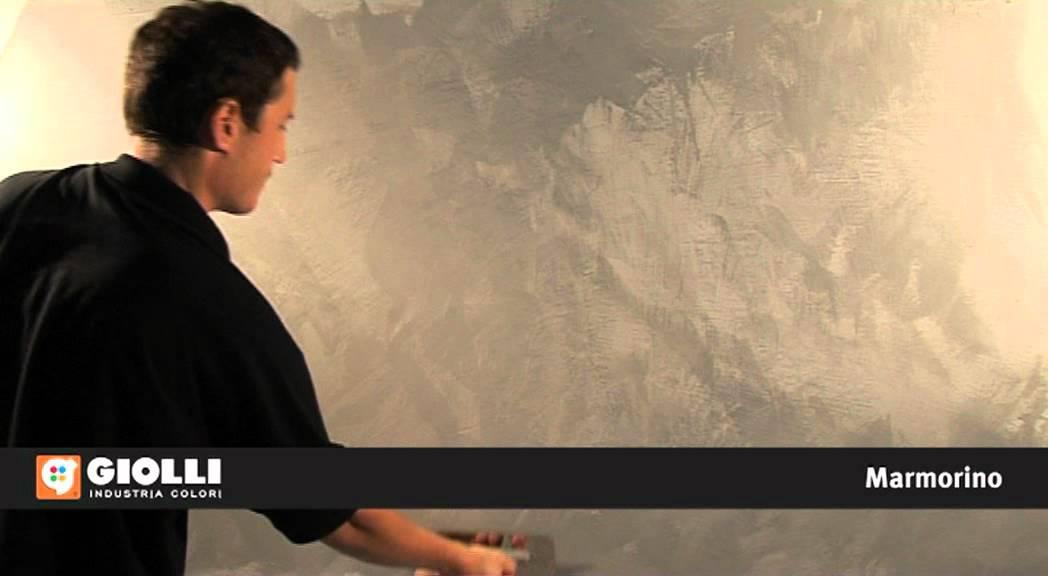 Marmorino grigio by giolli youtube for Effetto vento di sabbia