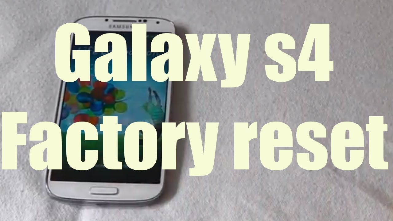how to clear defaults on galaxy s4