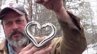 Blacksmithing   Forging A Kissing Horses Horseshoe Heart