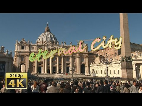 Walking from Vatican City to Trevi Fontain, Rome - Italy 4K Travel Channel