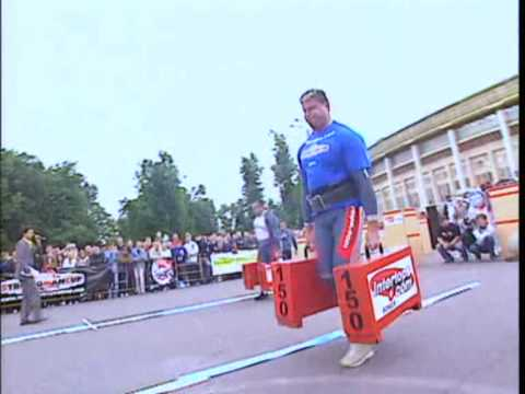 Pudzianowski won World Strongman Cup in Moscow. Best of 2006. Pudzian vs Virtanen.