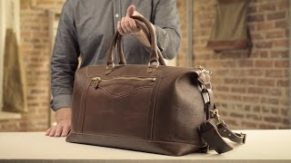 The Travel Bag   Full-Grain Leather Carry-On Bag