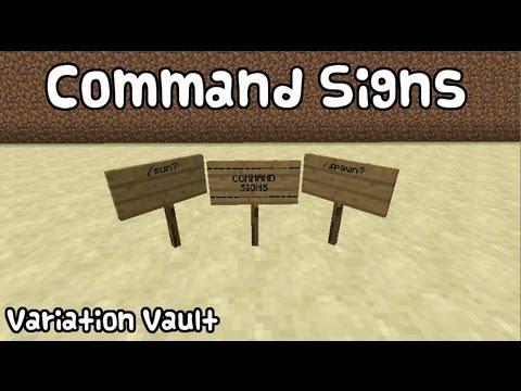 Minecraft Bukkit Plugin - Command Signs - Make Any block run commands!