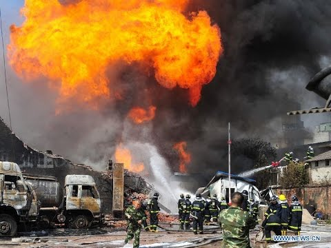 China Jiangsu Kunshan Factory Plant Explosion Over 65 Dead of Burning and Hundred Injured 江苏昆山工厂大爆炸