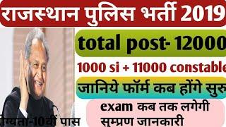 Rajasthan police exam date 2019 | rajasthan police vacancy 2019 | rajasthan police si & constable .