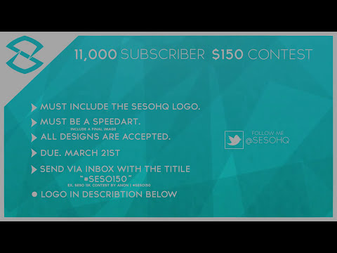 SesOs 11,000 Subscriber $150 Contest | #SESO150 (CLOSED)