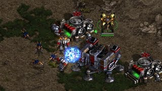 Protoss/Terran v Protoss/Zerg on Fighting Spirit - StarCraft  - Brood War REMASTERED