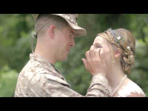 Marine Surpises His Sister On Her Wedding Day video