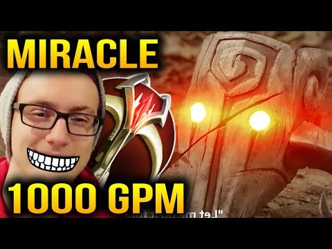 MIRACLE 1000 GPM with Juggernaut 0 Death Dota 2 7.11