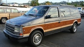 1990 Plymouth Grand Voyager Van V6 EFI Woody Woodie Estate Wagon Minivan