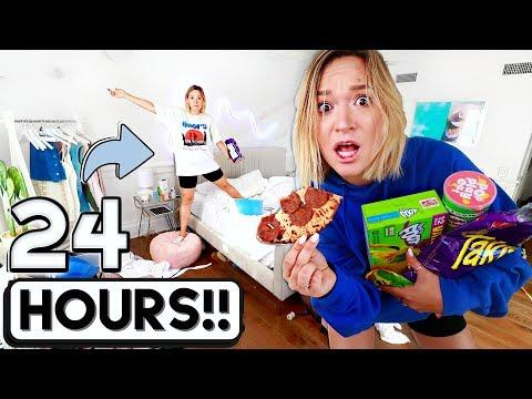 Download 24 HOUR OVERNIGHT ROOM CHALLENGE!!  *I went crazy* Mp4 baru
