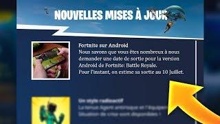 DATE DE SORTIE de FORTNITE sur ANDROID ! OFFICIEL
