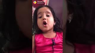 Cute Tamil baby. Sings a song