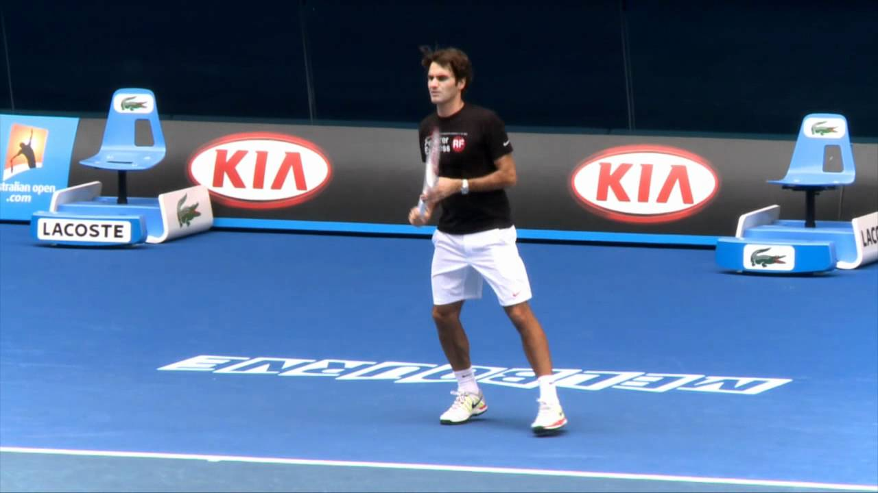 Galerry Roger Federer is back to practice VIDEO INSIDE