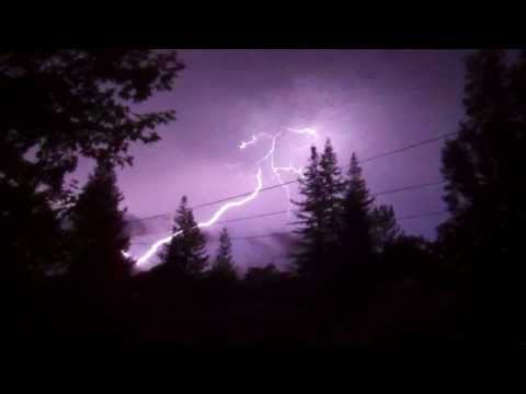 Wild Lightning Storm Hits Napa Valley 6 9 13 video