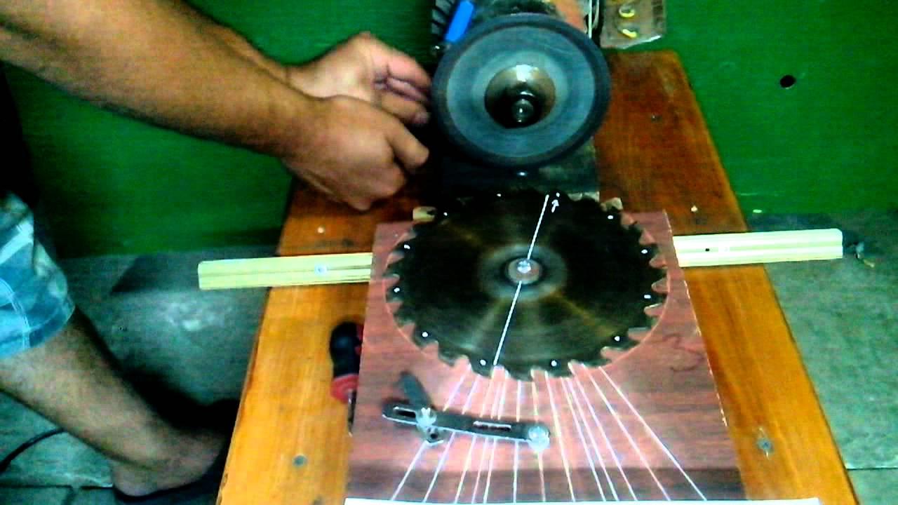Чем наточить дисковую пилу с напайками в домашних условиях 150