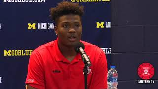 Ohio State QB Dwayne Haskins speaks after his team