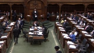 NDP escorted out of Ontario's legislature after protest of Bill 31