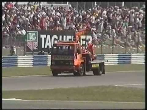 Micheal Schumacher 1st Lap Formula 1 crash at Silverstone British Grand Prix