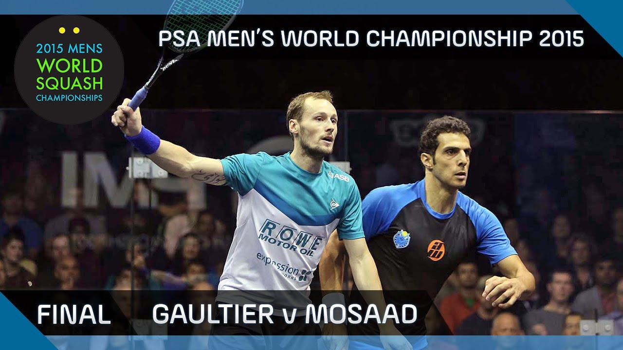 Squash: 2015 PSA Men's World Championship Final Highlights: Gaultier v Mosaad