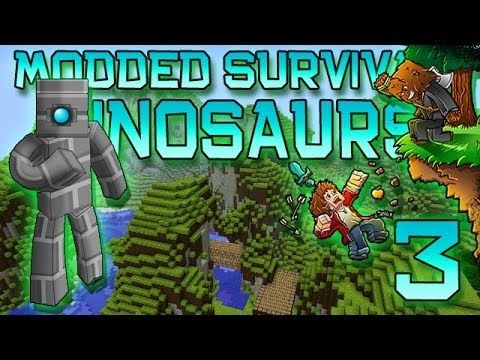 Minecraft: Modded Dinosaur Survival Let's Play w/Mitch! Ep. 3 - BATTLE TOWERS MOD!