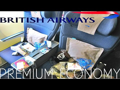 British Airways PREMIUM ECONOMY (World traveller plus) Shanghai to London Boeing 777 300ER