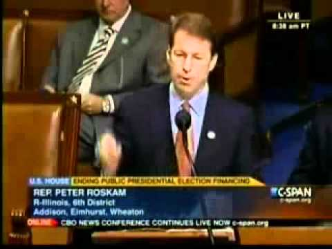 YouCut In Action: Roskam Floor Remarks on Ending the  Taxpayer Financing of Elections
