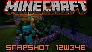 Minecraft 1.4 Snapshots - 12w34b - Új gomb/potion receptek, Armorlopó mobok, Tonna bugfix...
