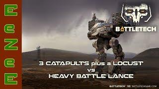 BattleTech: Catapult Carnage vs Heavy Battle Lance