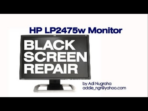 HP LP2475w LCD monitor repair (rectifier replacement) fix solved  memperbaiki monitor HP