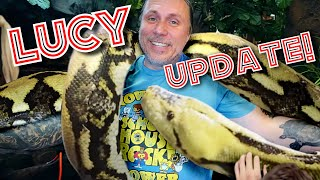 HUGE NEWS ON MY 20 FOOT GIANT SNAKE (Lucy) | BRIAN BARCZYK