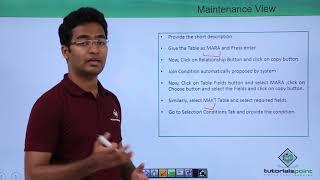 SAP ABAP - Maintenance View