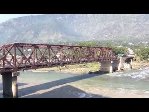 View from Hotel Silver face, Beas and Parvati Sangam, Bhuntar