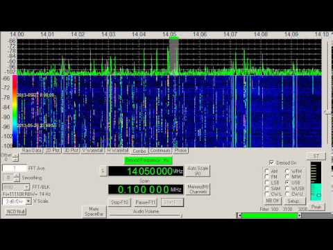 Ham Radio, CQ World Wide CW contest end, 20 meters, 27 May, 2013, 2359 UTC