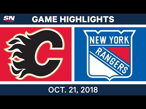 NHL Highlights  Flames vs. Rangers - Oct. 21, 2018
