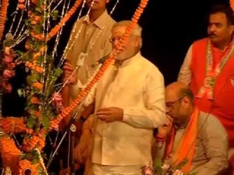 Narendra Modi vows to clean Varanasi (Full speech part-1)