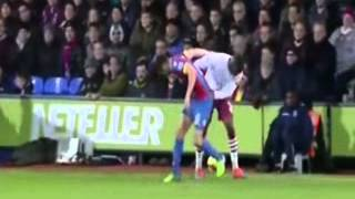 christian benteke (aston villa) goal vs crystal palace 2014