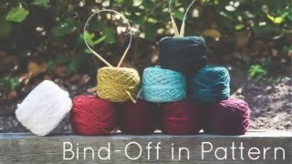 Knitting Tutorial for beginners: Bind-off in pattern