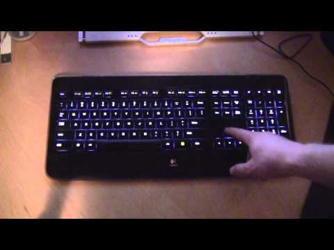 Logitech K800 Wireless Illuminated Keyboard in Action!