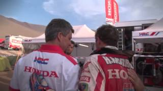 Behind the Scenes Team HRC in Dakar Rally 2015