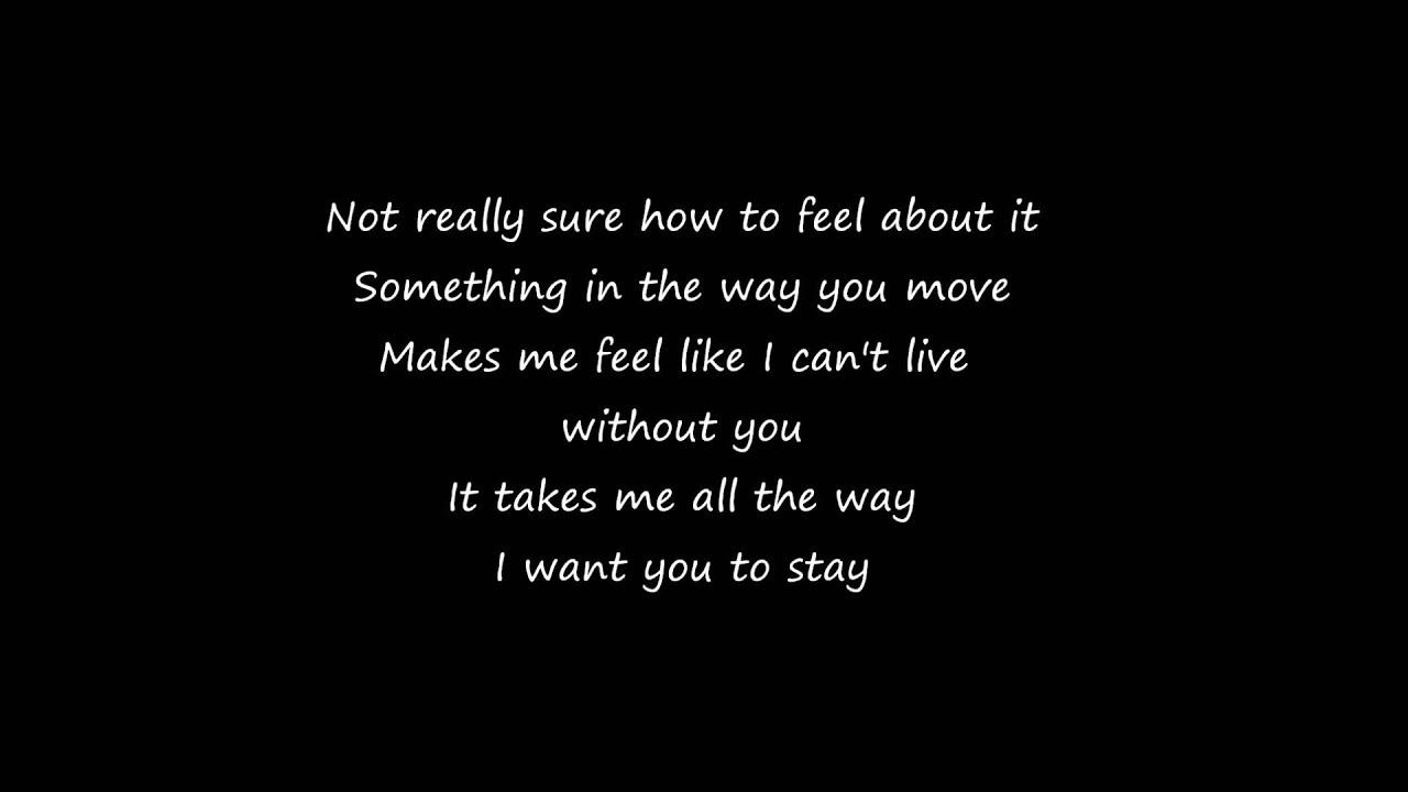Rihanna ft mikky ekko stay lyrics youtube - Voulez vous coucher avec moi song lyrics ...