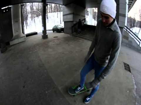 Видео как научиться кататься на скейте