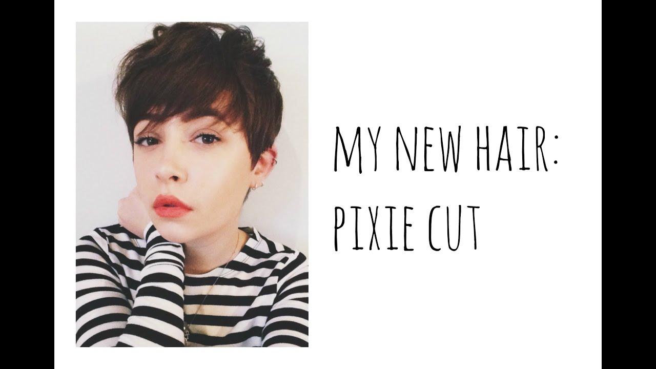 My New Hair Pixie Cut YouTube