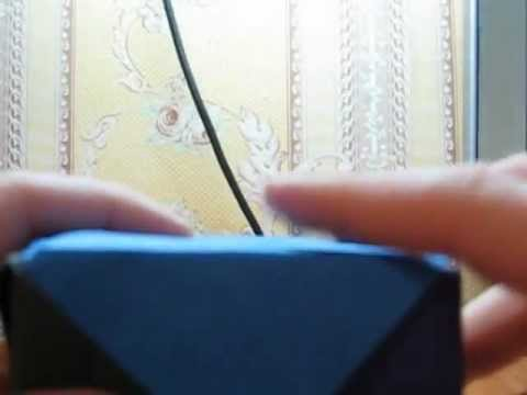 куб аригами из бумаги