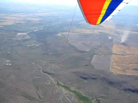 Hang glider climb  with hawks (& some dust devils)
