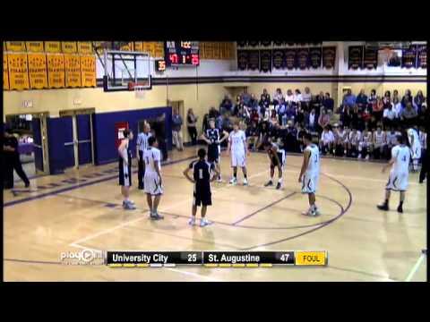 boys basketball university city vs. st. augustine youtube