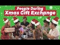 People During Christmas Gift Exchange